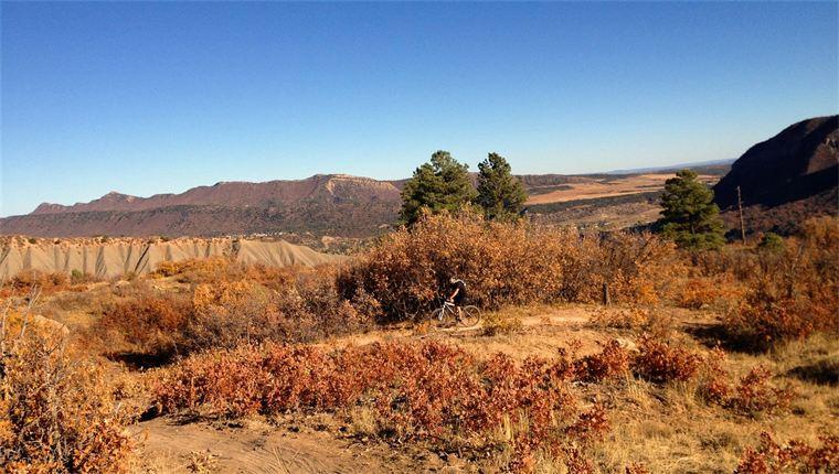 Fall riding in Durango