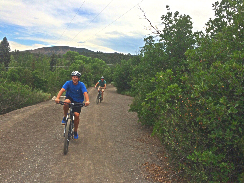 Riding on the Crestview Trail