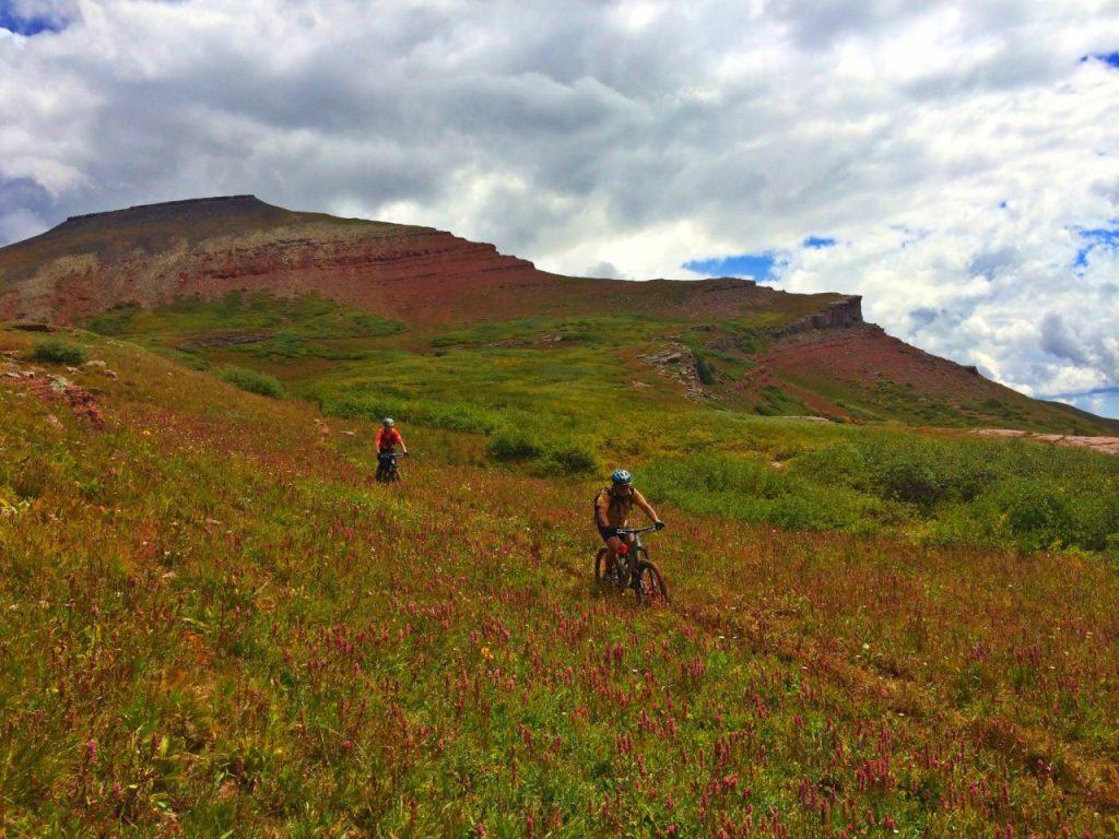 Riding Downhill Around Jura Knob