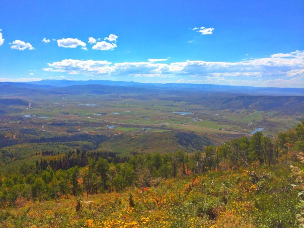 A view of the Yampa Valley from close to the top