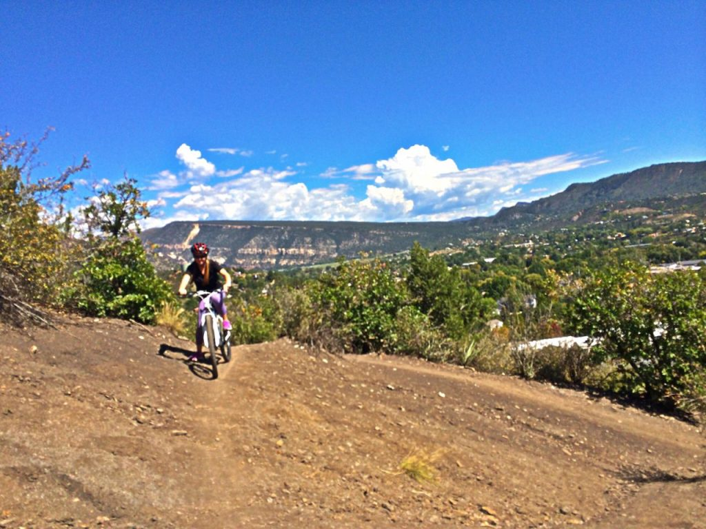 Laura trying her first switchback